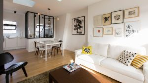 Renovation salon sur Paris 8